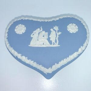 Wedgwood Jasperware Blue Heart Jewelry Box!